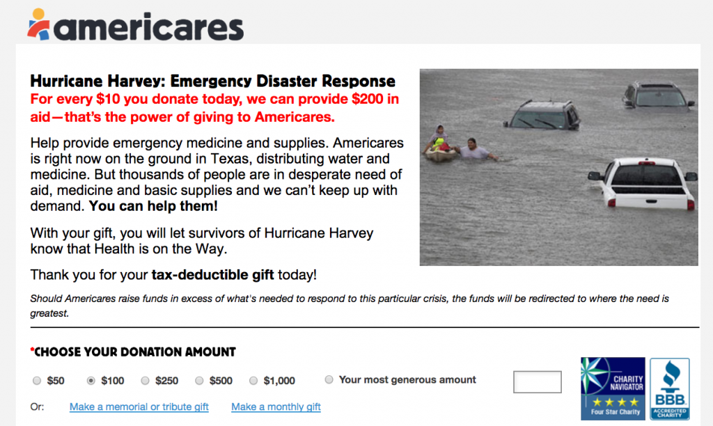 AmeriCares-Harvey